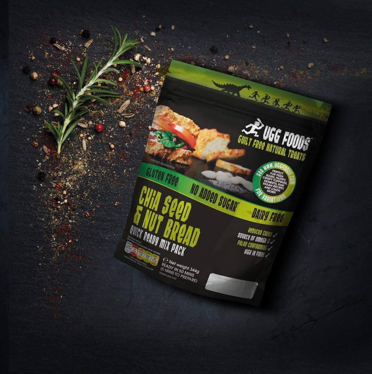 Ugg Foods - Mezcla de Pan de Semilla de Chia Grande y Nueces ...