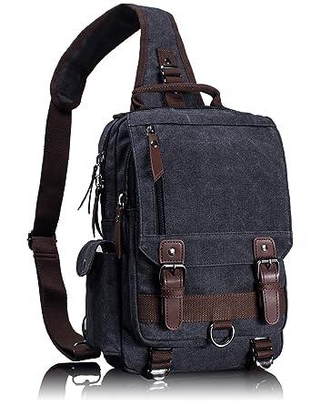 Saltador Uno Correa Sling Cruz Cuerpo Messenger Bag hombro
