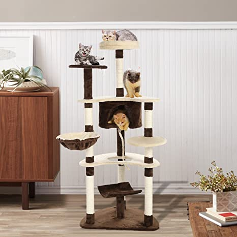 Edited Estable Rascador kletterbaumkatzenkratzbaum para gatos, con comida para gato, Sisal umwickelte kratz espacios
