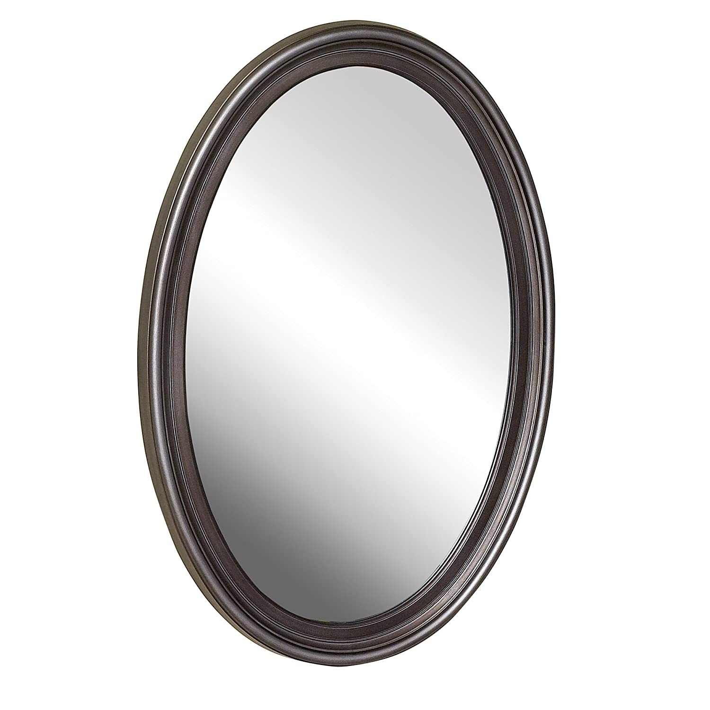 American Pride 9508VEN - Warwick Decorative Framed Oval Mirror Venetian Bronze 21 inch x 31 inch