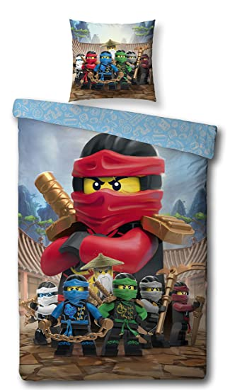 Familando Wende Bettwäsche Set Lego Ninjago Biberflanell
