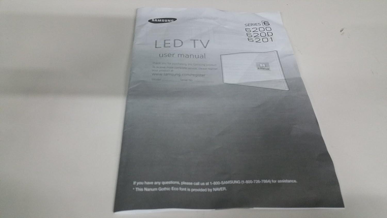 Samsung TV Manual (1 pc) BN68 – 07181: Amazon.es: Electrónica
