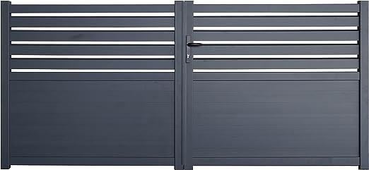Cambridge - Puertas de aluminio (3 m): Amazon.es: Jardín
