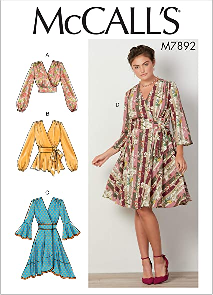 McCALL/'S PATTERN TOP BLOUSE /& DRESS 3 DESIGNS SIZE 6-14 or 14-22 # M7385
