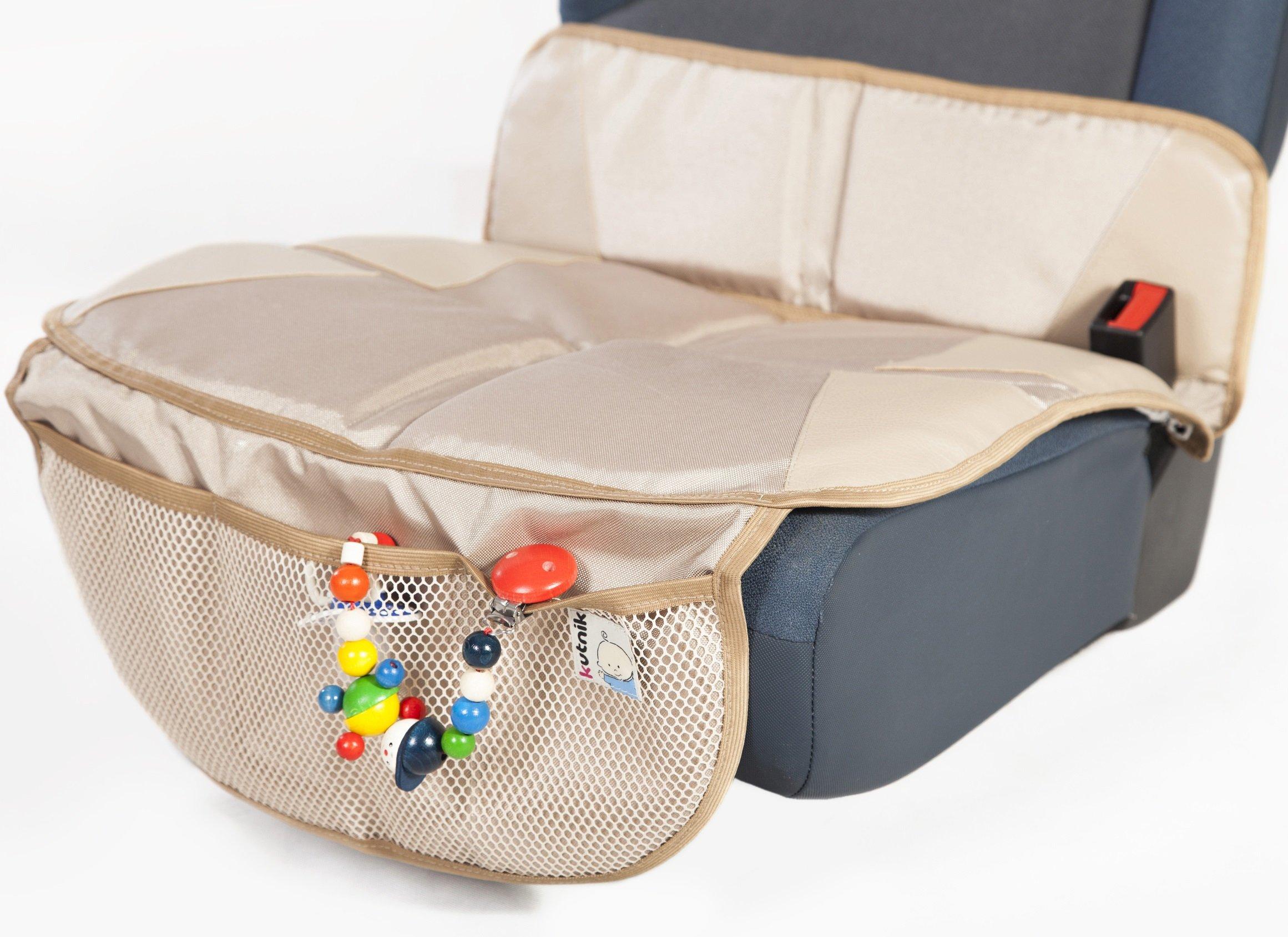 Kutnik MULTIFUNCTIONAL CAR SEAT PROTECTOR MAT (DESERT BEIGE)