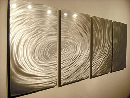 Miles Shay Metal Wall Art, Modern Home D cor, Abstract Wall Sculpture- Rippling