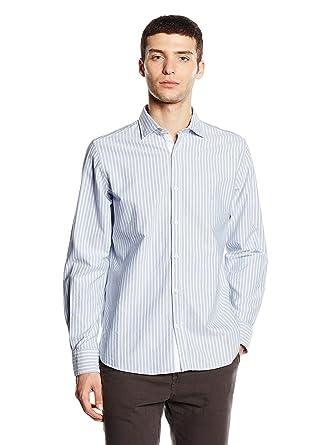 Macson Camisa Hombre Azul Claro/Blanco 39 cm (02): Amazon.es: Ropa ...