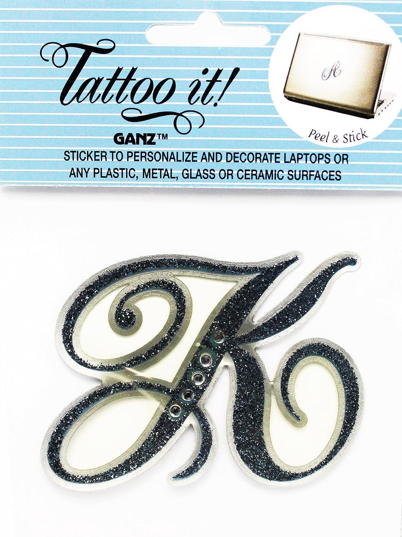 Amazon.com Tattoo it! Decorative Capitalized Letter Raised