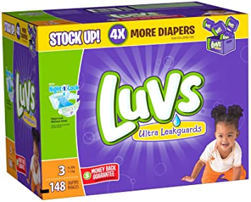 Amazon.com: Luvs Ultra Leakguards Diapers ,Size 3 ,148 Count ...
