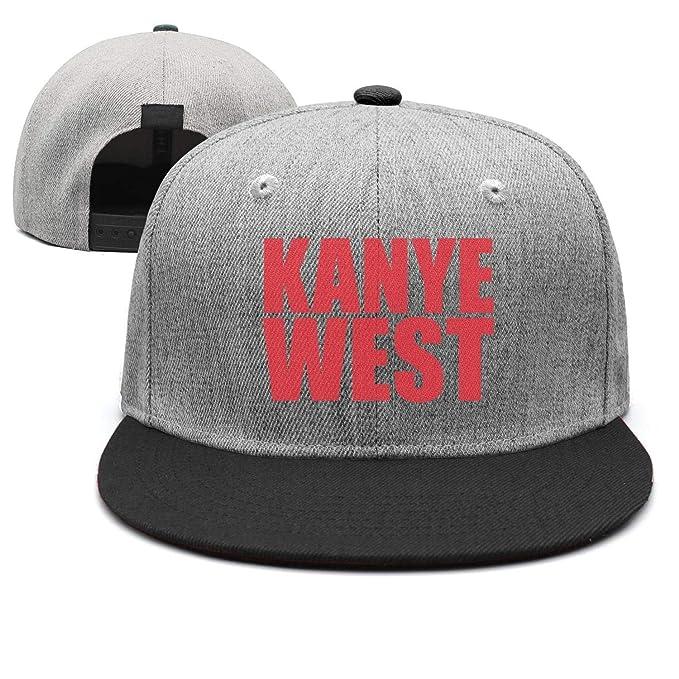 6247ee52 GUANTYH Retro Snapbacks for Men Adjustable Baseball Cap Kanye-West- Flat  Brim hat for
