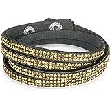Rafaela Donata - Bracelet enroulé - Velours résine, bracelet résine - 60917107