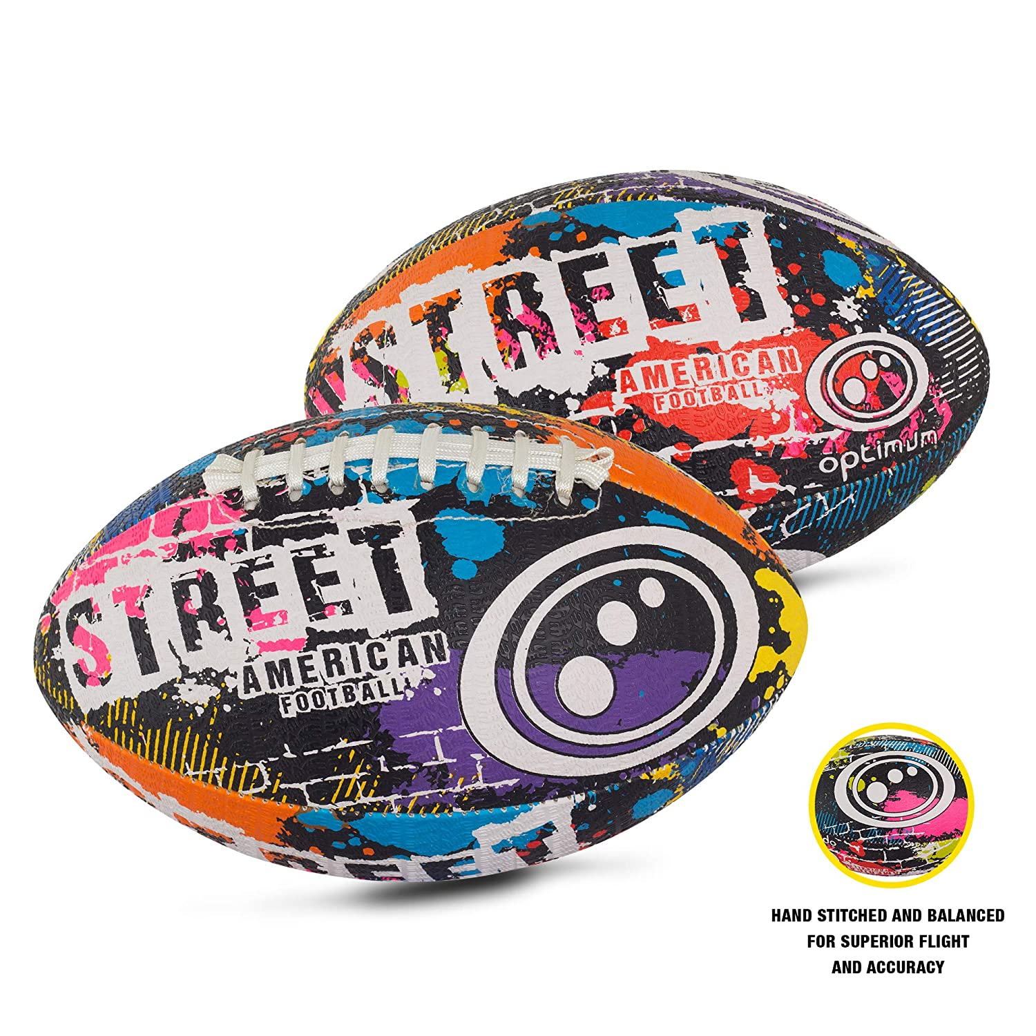 Optimal Hommes Street Mini Football américain – Multicolore Optimum OSTAFMINI