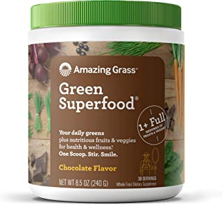 product image for Amazing Grass Green Superfood: Super Greens Powder with Spirulina, Chlorella, Digestive Enzymes & Probiotics, Chocolate, 30 Servings