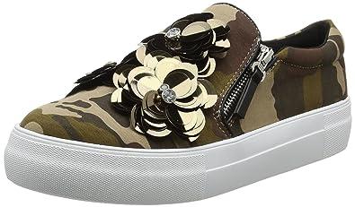 Buffalo Damen 515-7492-2 Textile Slip on Sneaker, Mehrfarbig (Army 01), 38 EU