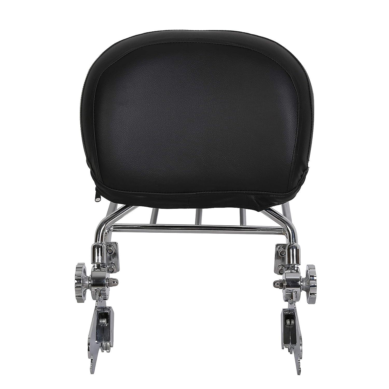ECOTRIC Quick Release Detach Adjustable Sissy Bar Backrest Luggage Rack For 1997-2008 Harley Road King Electra Glide