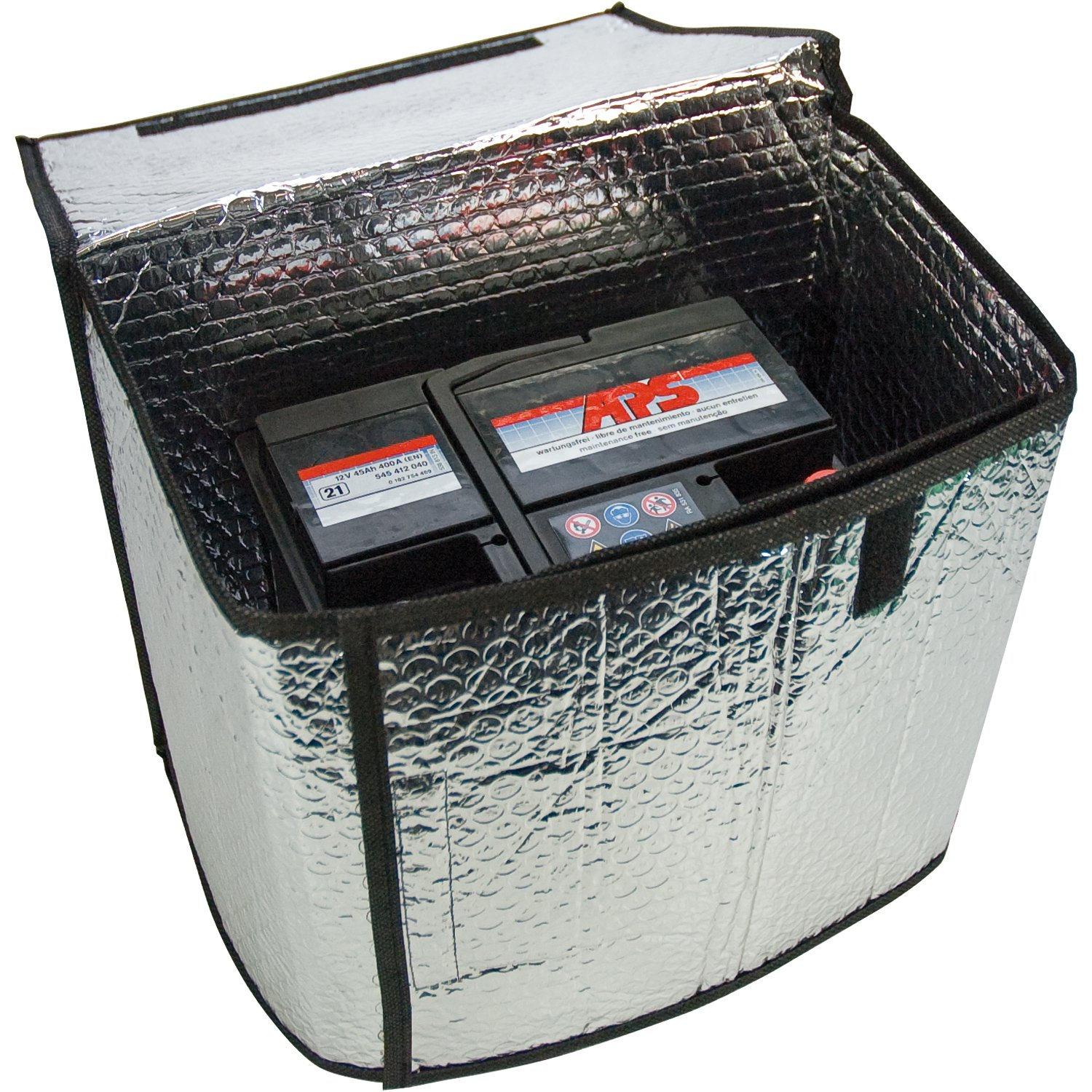 115 x 74 cm dimensions approx Cartrend 96144 Thermal battery case suitable for 32-45 Ah maintains function of starter batteries at extremely low temperatures