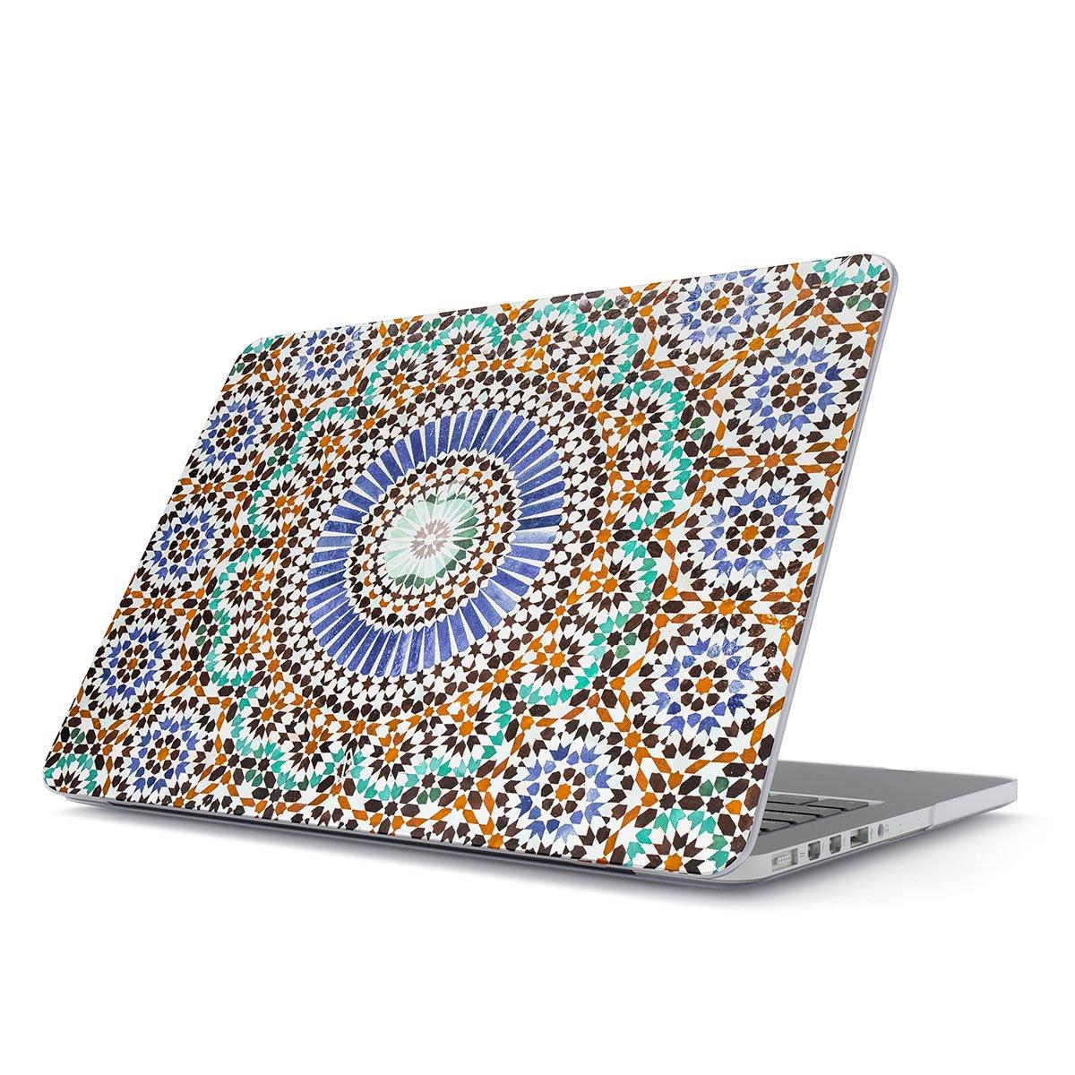 BURGA Funda para MacBook Air 13 3 Pulgadas, Modelo: A1466 / A1369 Vistoso Mosaic Colorful Boho Moroccan Dura Carcasa Rígida