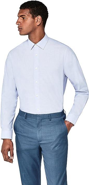 Marca Amazon - find. Camisa Formal de Corte Estándar Hombre: Amazon.es: Ropa y accesorios