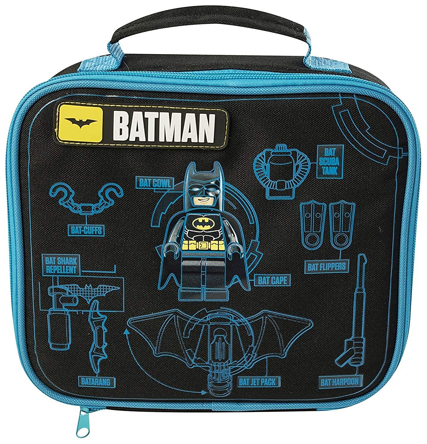 THE LEGO BATMAN MOVIE KIDS BOYS SCHOOL TRIPS INSULATED LUNCH BAG 9027