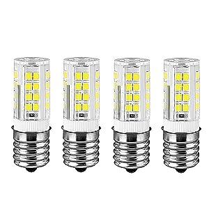 E17 Appliance LED Bulb Dimmable Range Hood Refrigerator Microwave Intermediate Base Light Bulbs (Warm White)