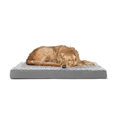 Furhaven Pet Dog Bed | Deluxe Orthopedic Traditional Foam Mattress Pet Bed for Dogs & Cats - Available in Multiple Colors & Styles