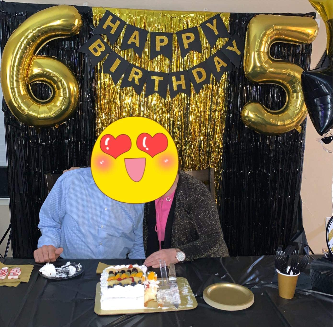 Gold 2 40 Inch Big Number 2 Balloons Gold Mylar Foil Helium Large Balloons Birthday Party Decorations for Anniversary