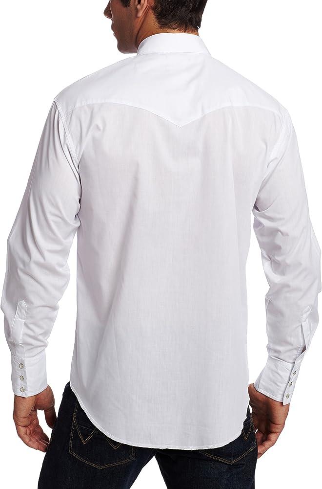 Deporte occidental manga larga camisa Wrangler hombres, blanco, grande: Amazon.es: Ropa y accesorios