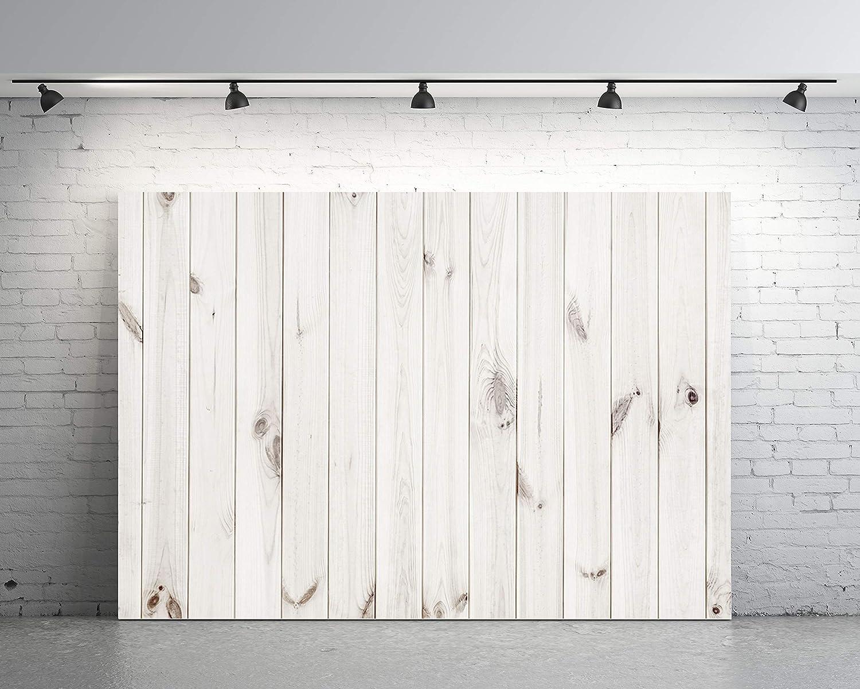 7x5フィート 背景 ホワイト 木製 壁 アーティスティック ポートレート カスタマイズ 写真 ビニール 写真 背景 HP08   B07MT3YHHD