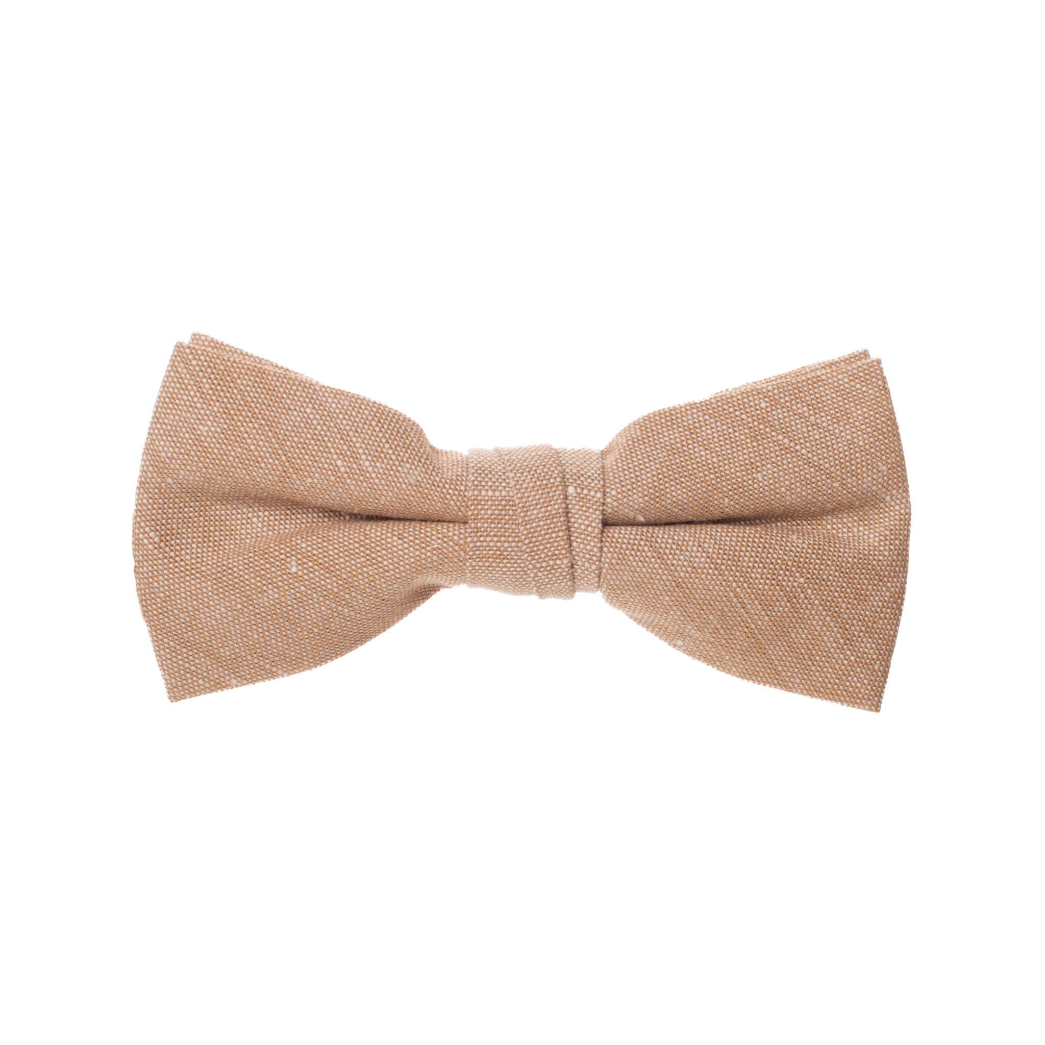 Born to Love - Boys Kids Pre Tied Adjustable Bowtie Easter Holiday Party Dress Up Cotton Bow Tie 4 Inches Tan