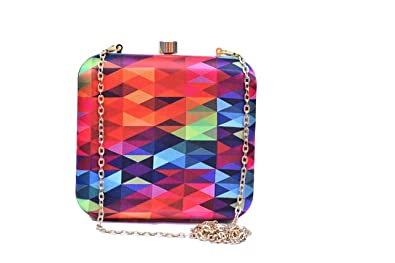 a084b28df0 Image Unavailable. Image not available for. Colour  Sugarcrush women party  wear Hand Box clutch purse with Detachable Sling Must Buy For Girls and