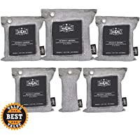 maQma Bamboo Charcoal Air Purifying Bags (6-Count) Natural, Activated Odor Eliminator, Freshener, and Deodorizer | Car…