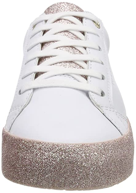 afbafdf5d10bde Tommy Hilfiger Damen Sparkle Outsole Glitter Sneaker Weiß (White-Pink 100) 42  EU: Amazon.de: Schuhe & Handtaschen