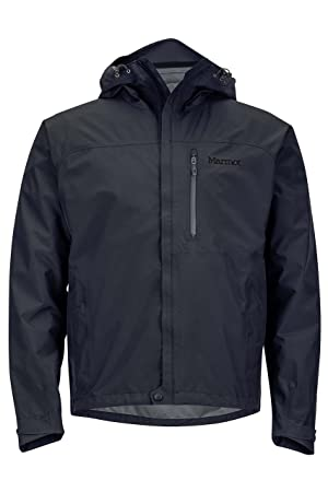 choose newest 100% genuine price reduced Marmot Minimalist Men's Lightweight Waterproof Rain Jacket, GORE-TEX with  PACLITE Technology, Large, Jet Black