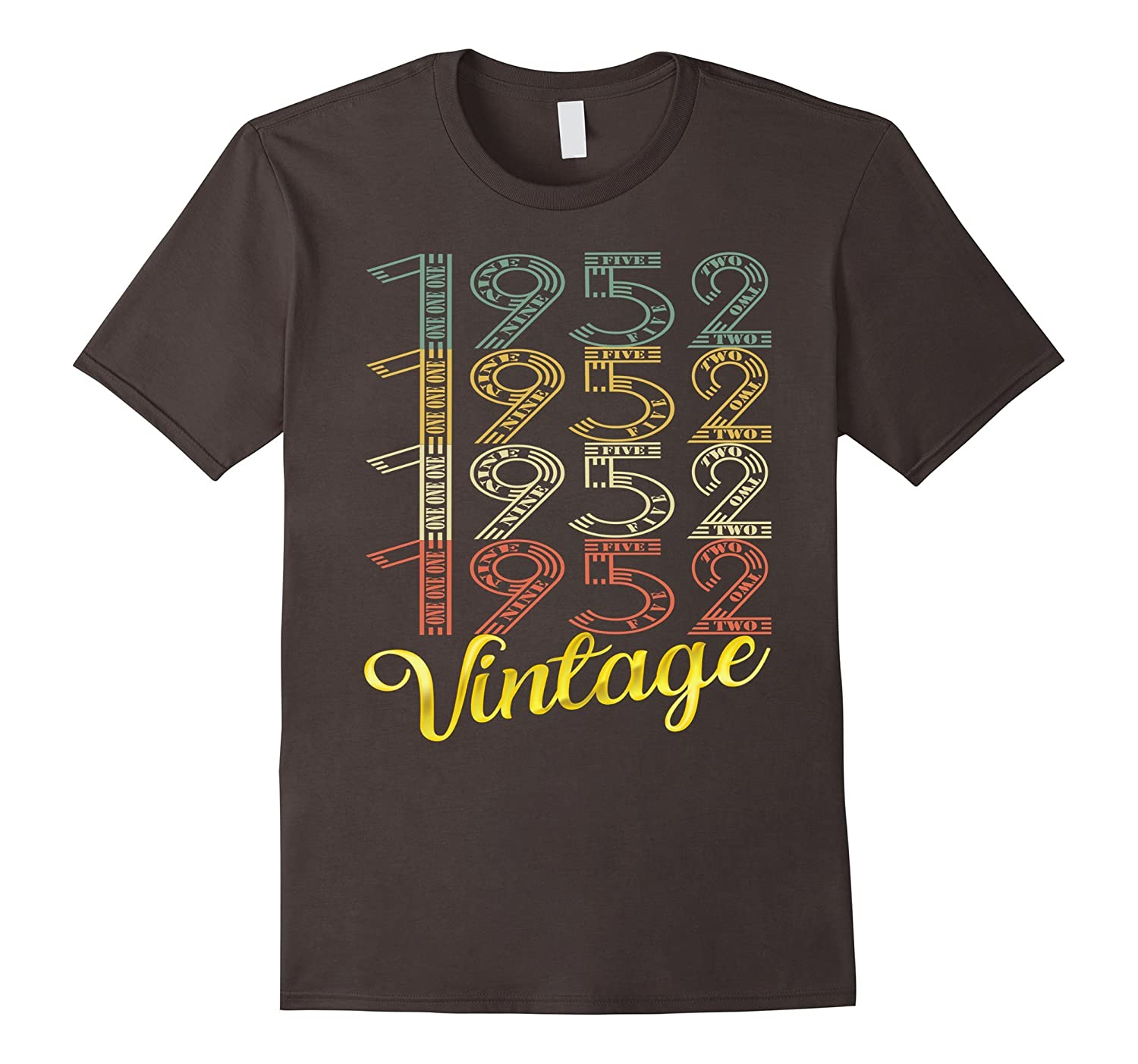 Vintage 1952 Gold 65 Years Old Fun 65th Birthday Shirt Gifts TJ