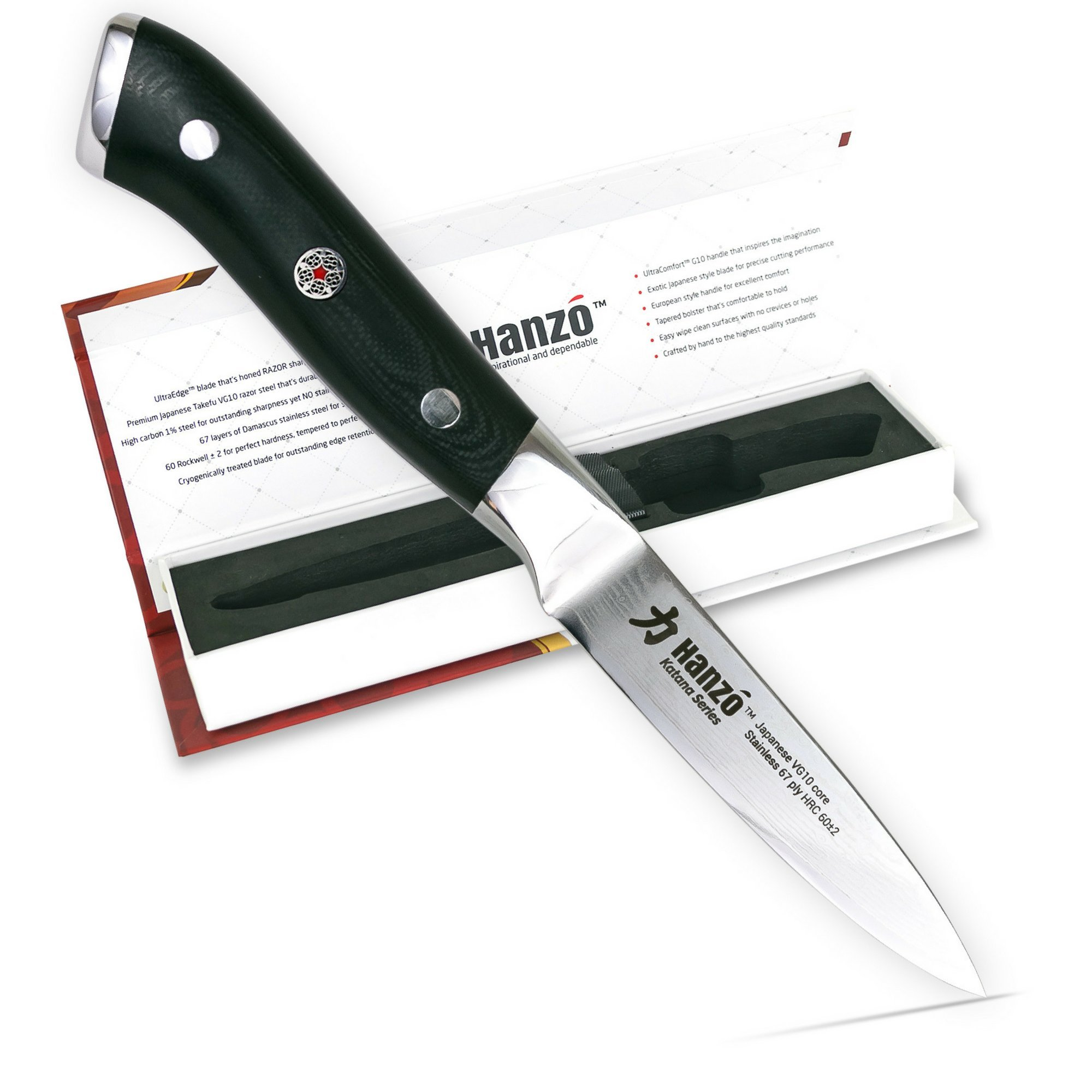 HANZO Paring Professional Chef Knife - 3.75 inch