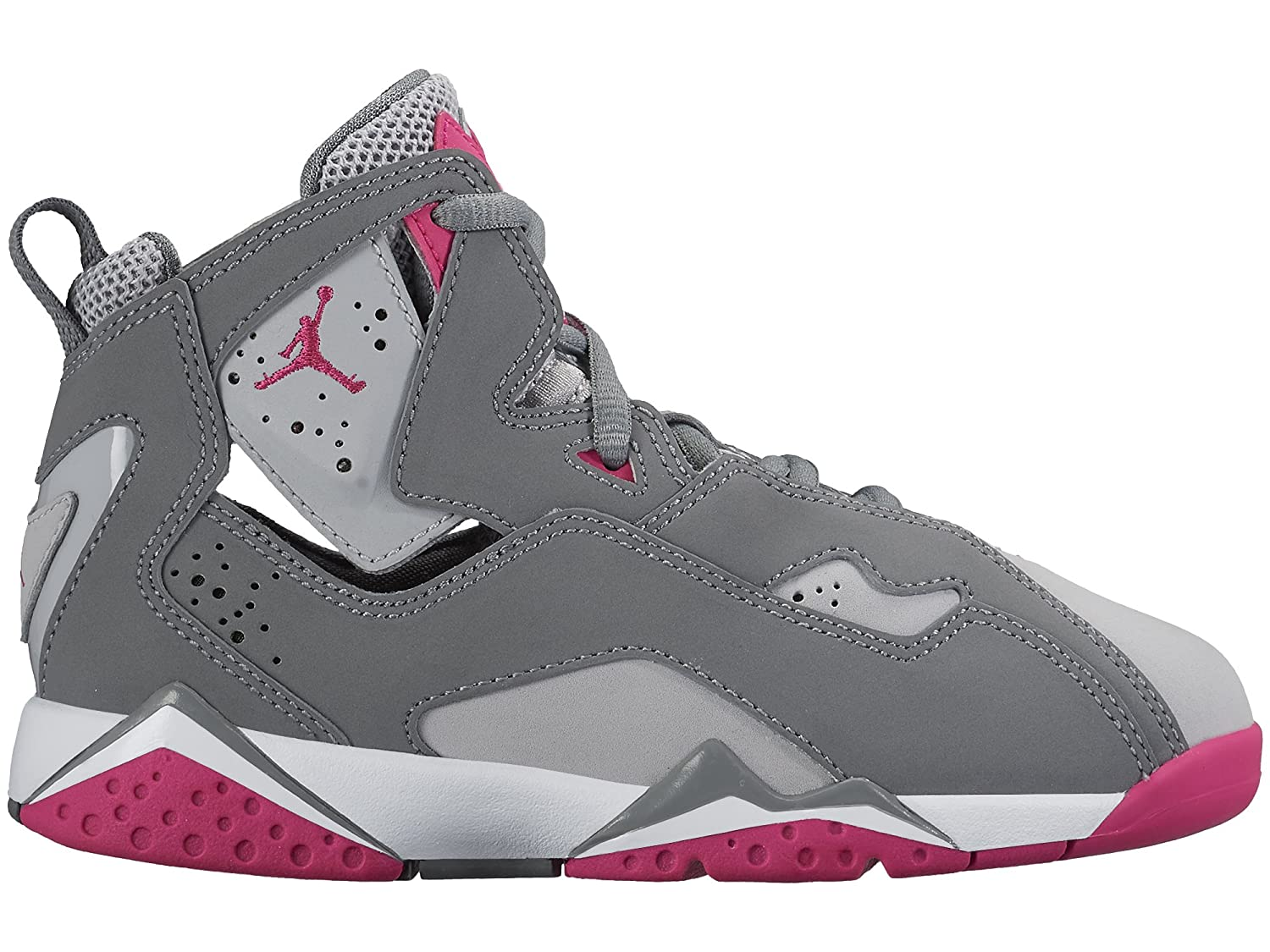 Amazon.com | JORDAN KIDS JORDAN TRUE FLIGHT GP GREY GREY PINK WHITE SIZE 1.5 | Basketball