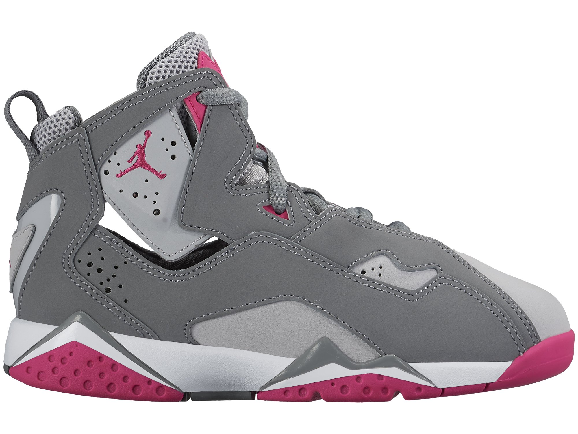 JORDAN KIDS JORDAN TRUE FLIGHT GP GREY GREY PINK WHITE SIZE 2 by NIKE