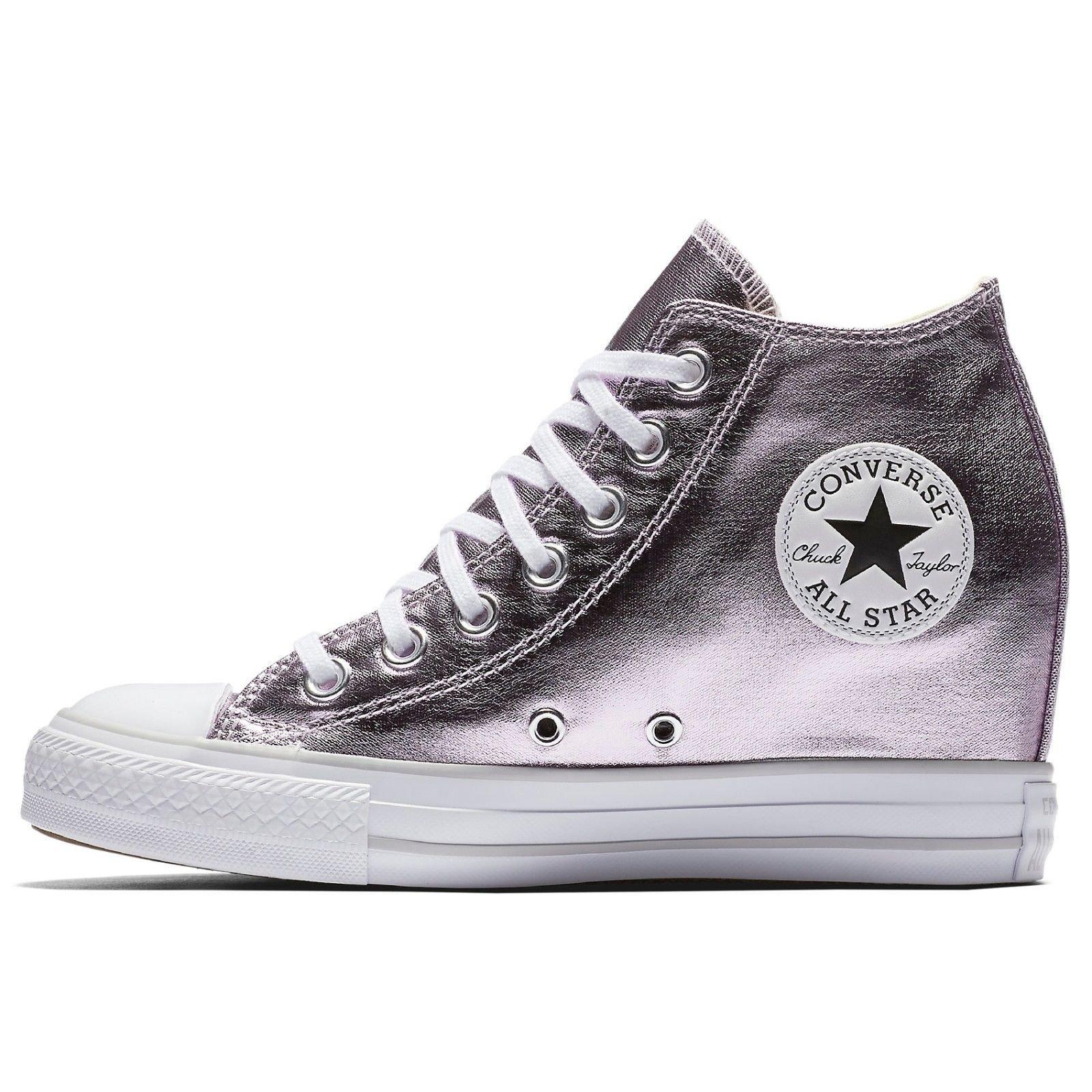 7186b0cf94d0 Converse Women s Chuck Taylor Lux Wedge Sneaker Metallic - Luxury Beauty  Store