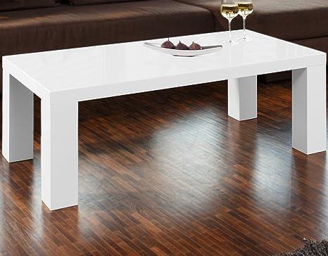 Tisch Weiß Eckig.Couch Tisch Weiß Hochglanz Aus Mdf 120x60cm Recht Eckig Lucky Schicker Wohnzimmer Tisch In Angesagter Hochglanz Lackierung Weiss 120cm X 60cm