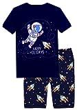 Amazon Price History for:Slenily Boys Pajamas Set Summer 2 Piece Short Sleepwear Dinosaur 100% Cotton Clothes Shirts