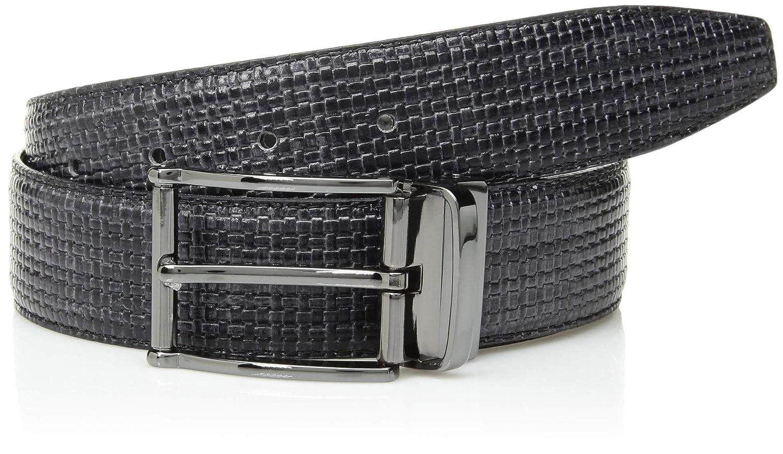Bugatchi Mens Reversible Printed Leather Belt