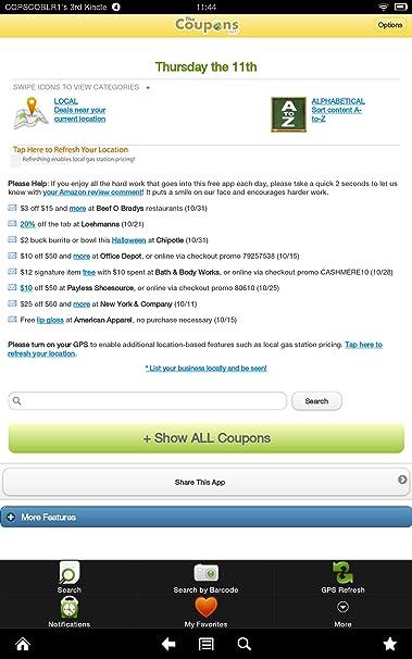 coupons on amazon app