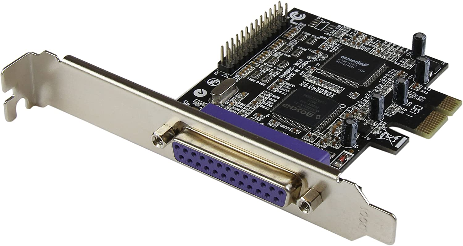 StarTech.com 2 Port PCI Express//PCI-e Parallel Adapter Card IEEE 1284 with LP Bracket 2X DB25 F PCIE Parallel Port Card PEX2PECP2