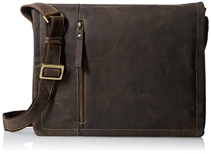 d99bd8162c79 Visconti Foster 13.3 quot  Inch Distressed Oiled Leather Laptop Messenger  Bag