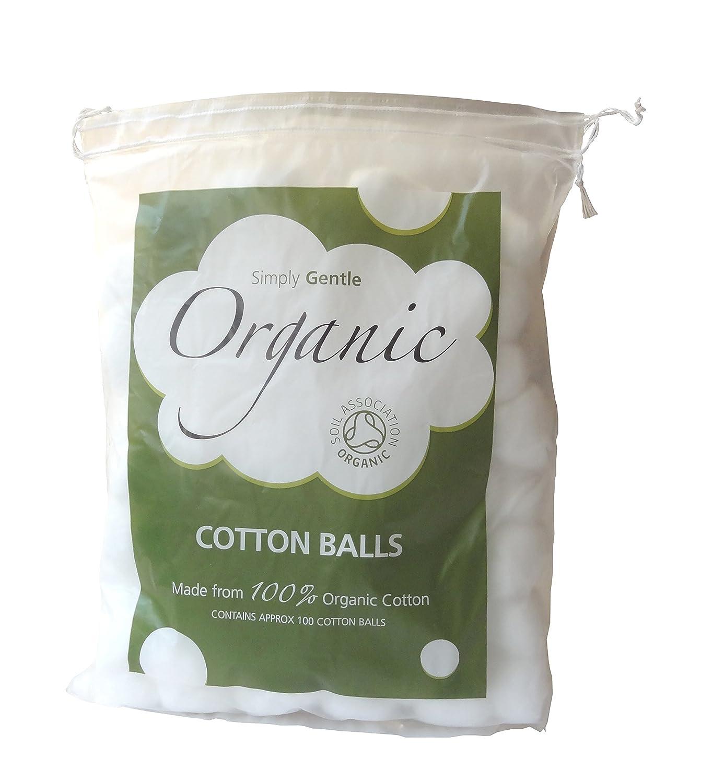 Simply Gentle Batuffoli di Cotone Organico - Pacco di 100 Batuffoli (Pacco di 3 Confezioni - 300 Batuffoli)