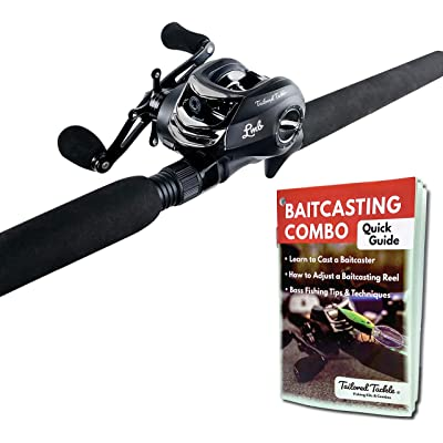 Tailored Tackle Baitcasting Combo Fishing Reel and Rod