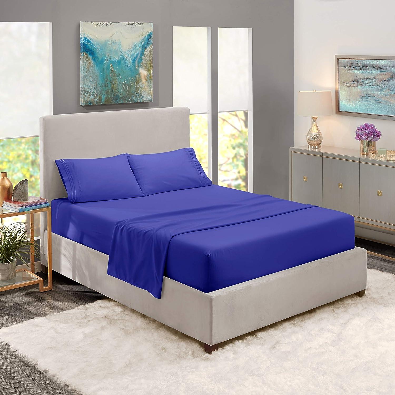 Queen Sheets - Bed Sheets Queen Size – Deep Pocket Hotel Sheets – Cool Sheets - Luxury 1800 Sheets Hotel Bedding Microfiber Sheets - Soft Sheets – Queen - Royal Blue