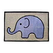 Bacati - Elephants Blue/Grey Rug