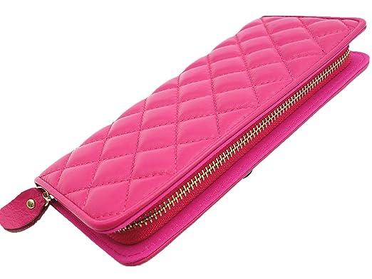 Yixiangqin Superior Sheepskin Wallet Sewing Rhombus Pattern Women ...