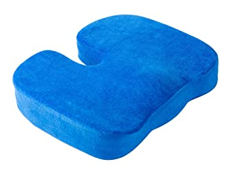 AERIS Memory Foam Seat Cushion Luxury fice Chair Pad with A Buckle To Prevent Sliding